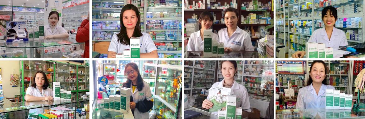 Atoskin đã có mặt tại các nhà thuốc trên toàn quốc