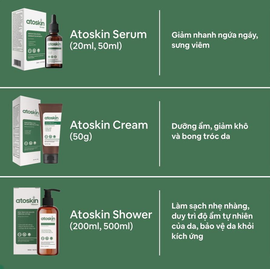 Atoskin - Giải pháp toàn diện dành cho người viêm da cơ địa
