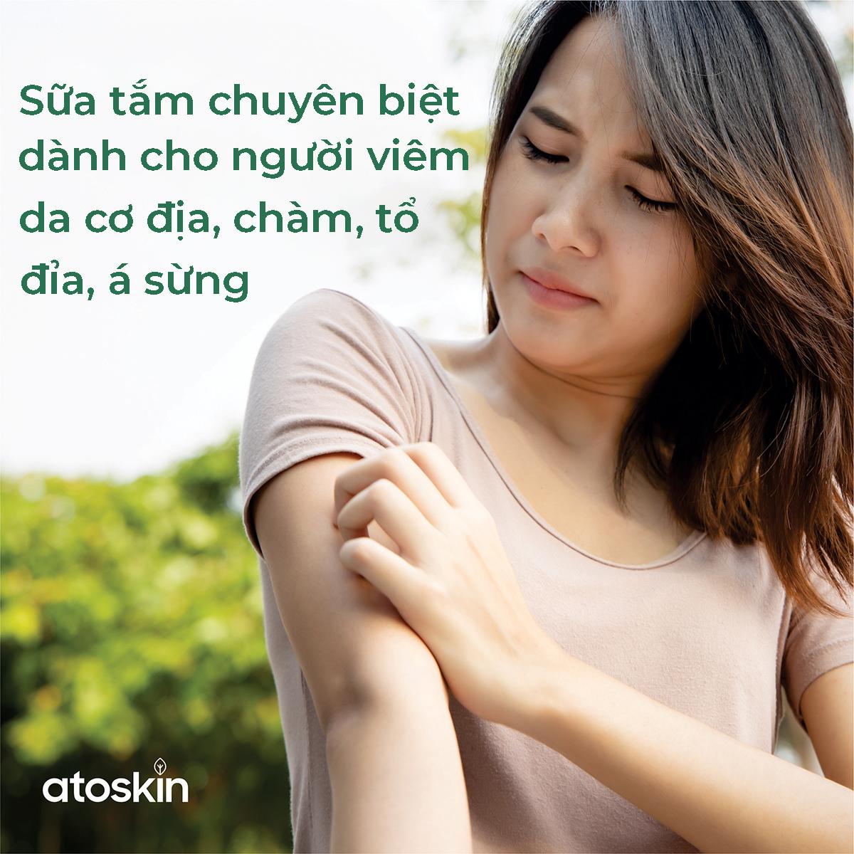 Atoskin - Sữa tắm chuyên biệt dành cho người viêm da cơ địa, chàm, tổ đỉa, á sừng